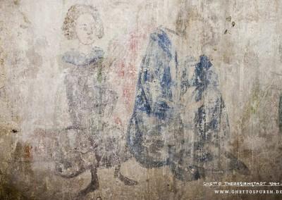 Das Bild zeigt einerseits den Dichter Heinrich von Veldeke wie er in der Miniatur des Codex Manesse dargestellt ist. Andererseits ist hier noch ein weitere Figur (links) zu sehen, die es im Original nicht gibt. Deutlich zu erkennen ist eine jungenhafte Figur, die womöglich einen Knappen des Dichters darstellen soll. Text: Uta Fischer © 2014, All rights reserved. Foto: © WILDFISCH