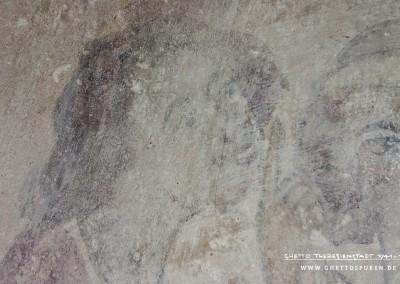 Kopf des ersten Dichters (v. li. n. re.): Mimik sowie die Geste des erhobenen Zeigefingers stimmen mit der Darstellung des ersten Dichters in der Originalvorlage überein (v. li. n. re.). Text: Uta Fischer © 2014, All rights reserved. Foto: © WILDFISCH