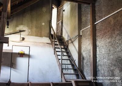 Eine schmale Stiege führt hinauf zu dem Turmraum.Text: Uta Fischer © 2014, All rights reserved. Foto: © WILDFISCH