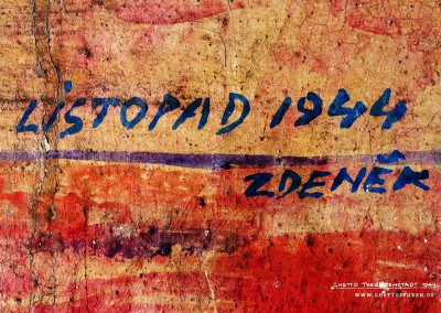 "This inscription tells us more: The translation of the Czech graffito reads, ""November 1944 ZDENĚK"". It is quite possible that Zdeněk survived the Holocaust, as no transports left the camp between November 1944 and the liberation of the ghetto in May 1945."
