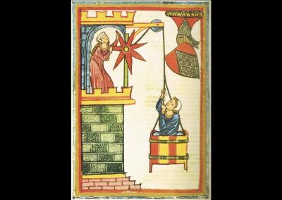 Herr Kristan von Hamle, Miniatur des Codex Manesse. Foto: © Große Heidelberger Liederhandschrift (Codex Manesse), http://digi.ub.uni-heidelberg.de/diglit/cpg848/0138