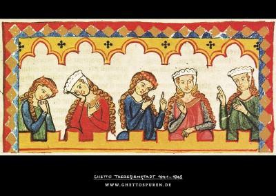 Herr Walther von Klingen, Ausschnitt Miniatur des Codex Manesse. Foto: © Große Heidelberger Liederhandschrift (Codex Manesse), http://digi.ub.uni-heidelberg.de/diglit/cpg848/0099