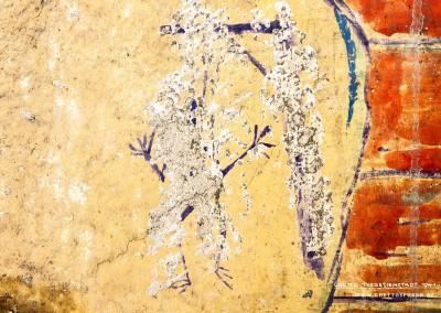 Trotz der eindeutig mutwilligen Beschädigung ist das Galgenmännchen noch zu erkennen. Text: Uta Fischer © 2014, All rights reserved