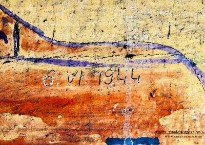 """""""6.6.1944"""": Das Datum hinterließ offenbar die gleiche Person drei Wochen später.  Text: Uta Fischer © 2014, All rights reserved"""